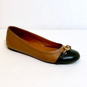 Coach leather flat shoes